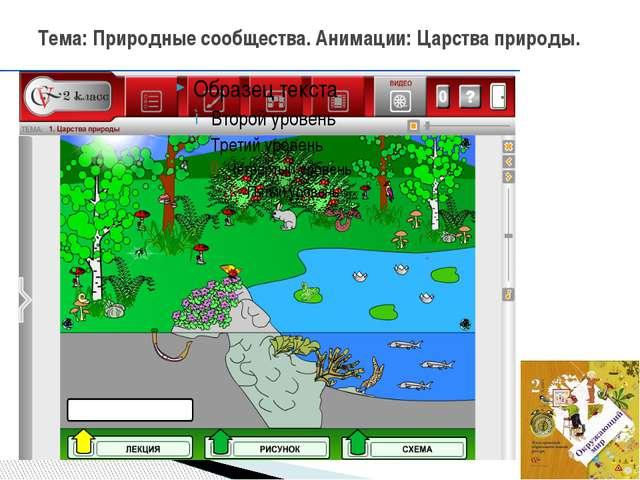 Тема: Природные сообщества. Анимации: Царства природы.