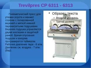 Trevilpres CP 6311 - 6313 Пневматический пресс для утюжки ворота и манжет сор