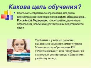 Обеспечить современное образование младшего школьника в соответствии с положе