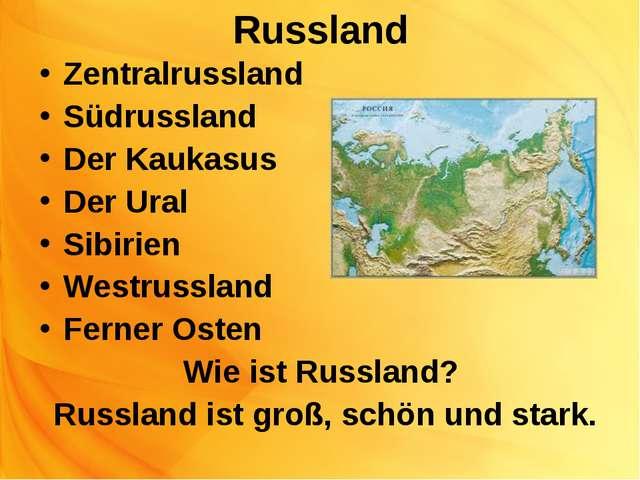 Russland Zentralrussland Südrussland Der Kaukasus Der Ural Sibirien Westrussl...