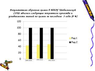 Результатами обучения химии в МБОУ Шебалинской СОШ явились следующие показате