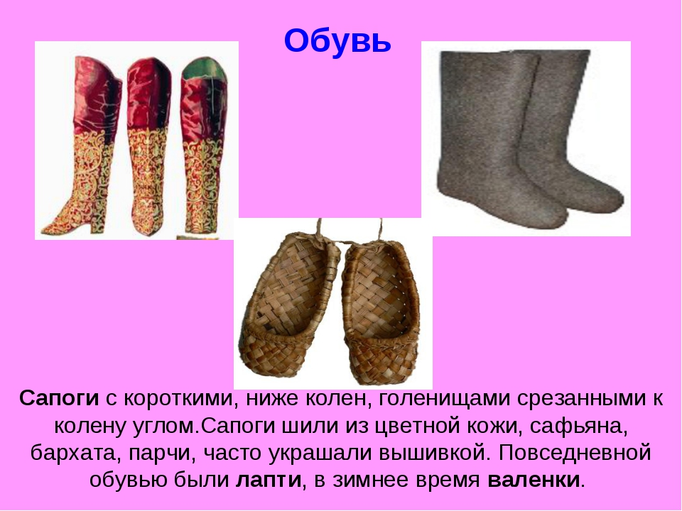 Обувь Сапоги с короткими, ниже колен, голенищами срезанными к колену углом.Са...