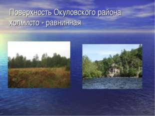 Поверхность Окуловского района холмисто - равнинная