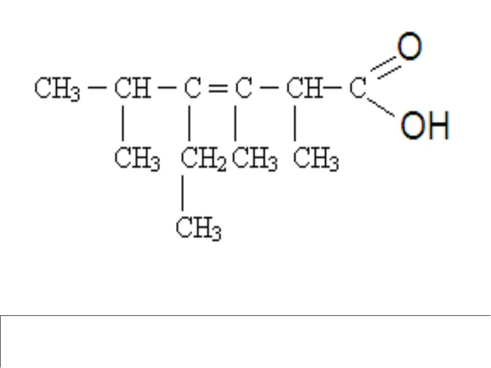 2,3,5-триметил-4-этил-3-гексеновая кислота