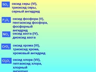 оксид фосфора (V), пентаоксид фосфора, фосфорный ангидрид оксид серы (VI), тр