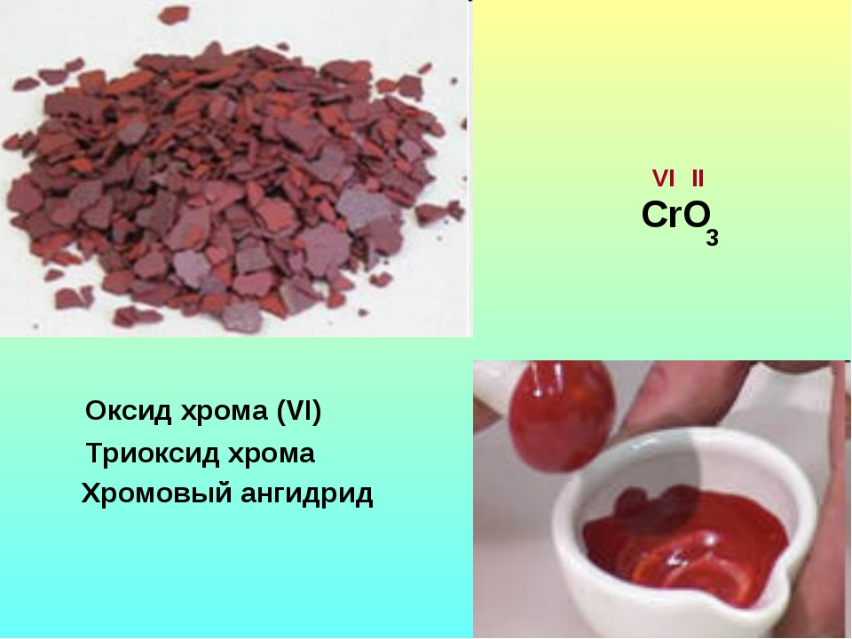 Оксид хрома (VI) Триоксид хрома Хромовый ангидрид СrО VI II 3