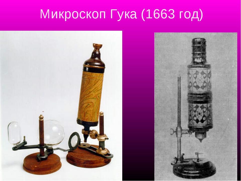 Микроскоп Гука (1663 год)