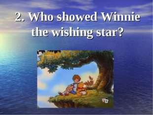 2. Who showed Winnie the wishing star?