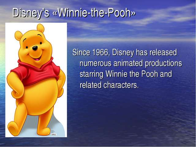 Since 1966, Disney has released numerous animated productions starring Winnie...