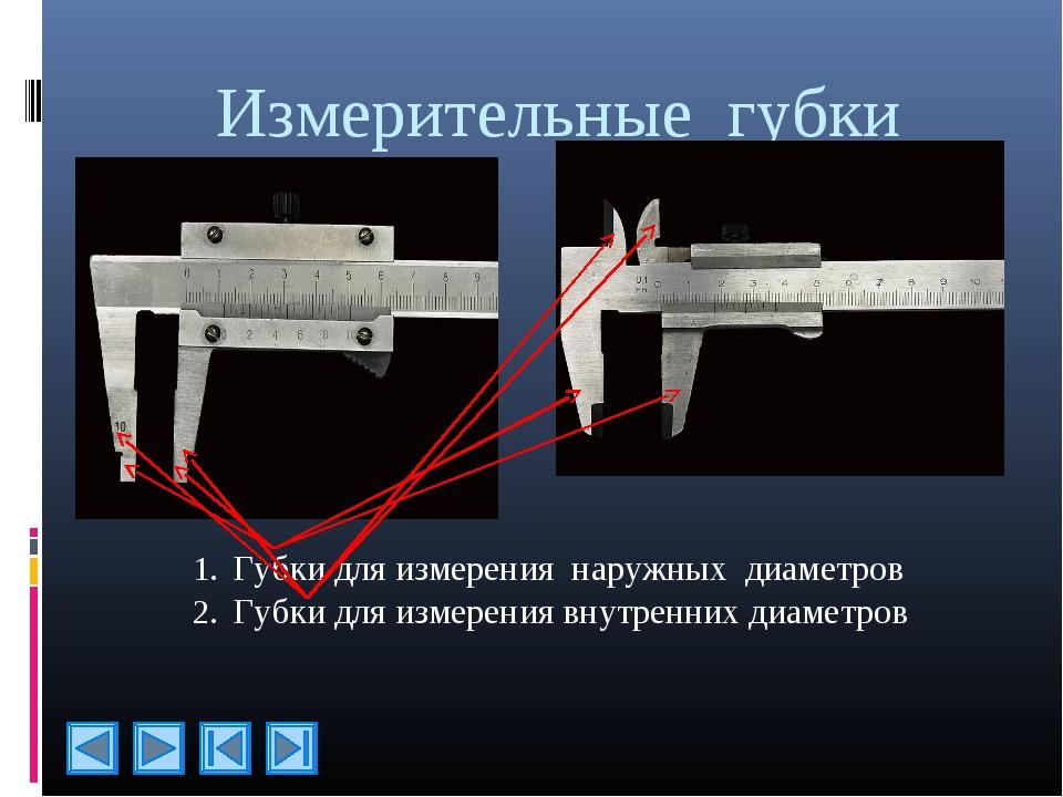 Измерительные губки Губки для измерения наружных диаметров Губки для измерени...