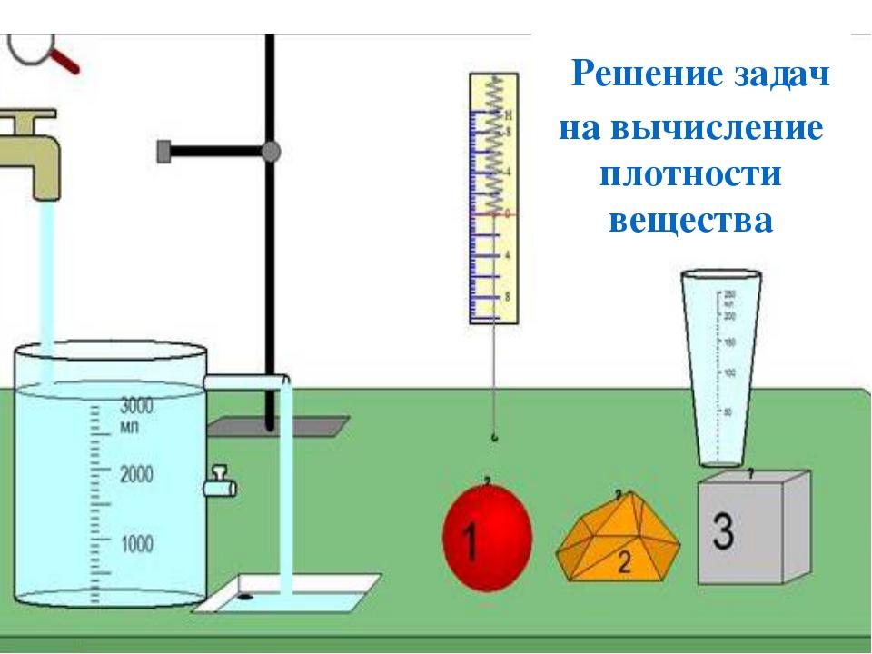 Решение задач на вычисление плотности вещества