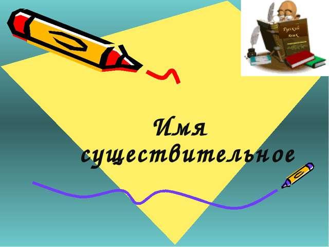 Имя существительное Русский язык