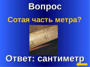 Вопрос Сотая часть метра?