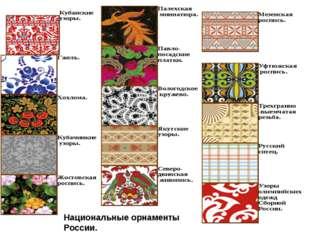 Национальные орнаменты России.