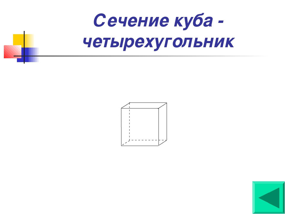Сечение куба - четырехугольник