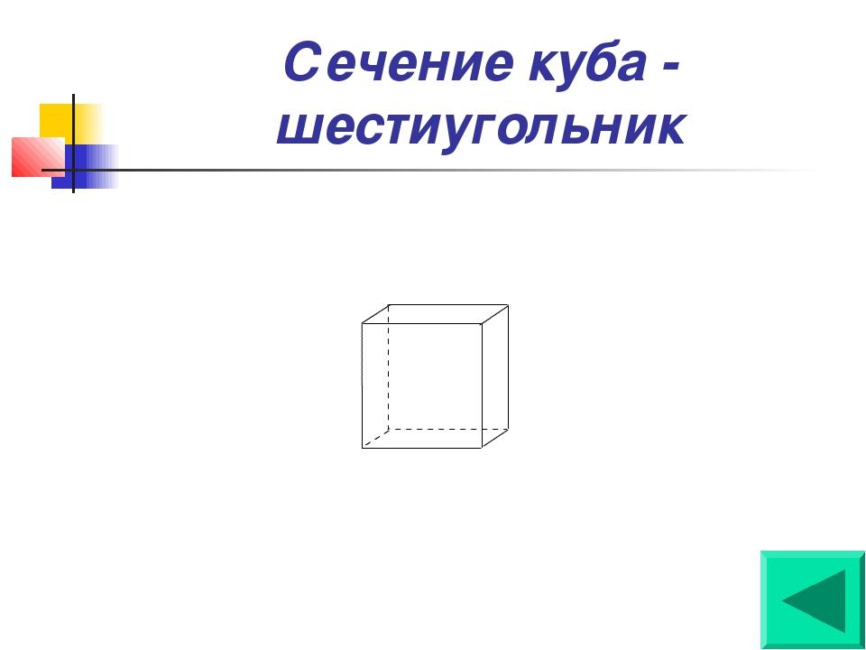 Сечение куба - шестиугольник