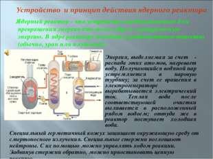 Ядерный реактор - это устройство, предназначенное для превращения энергии ат