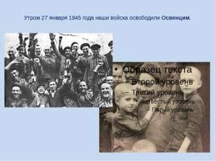 Утром 27 января 1945 года наши войска освободили Освенцим.