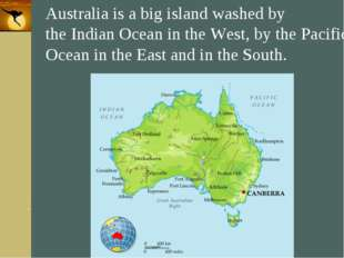 Company Logo Australia is a big island washed by the Indian Ocean in the West
