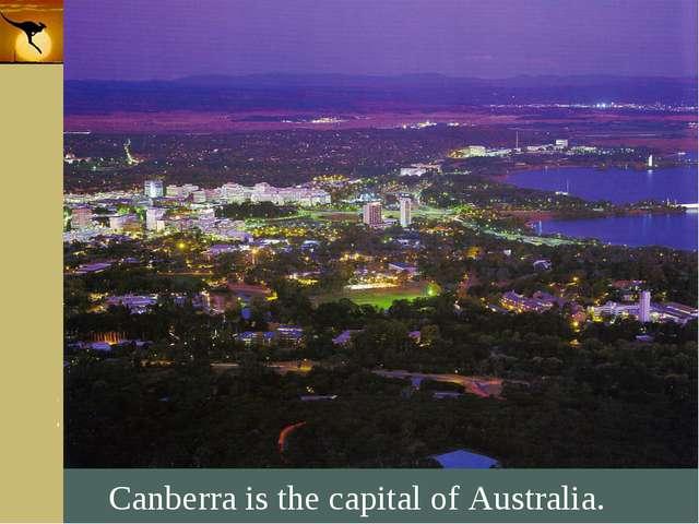 Company Logo Canberra is the capital of Australia. Company Logo www.themegall...