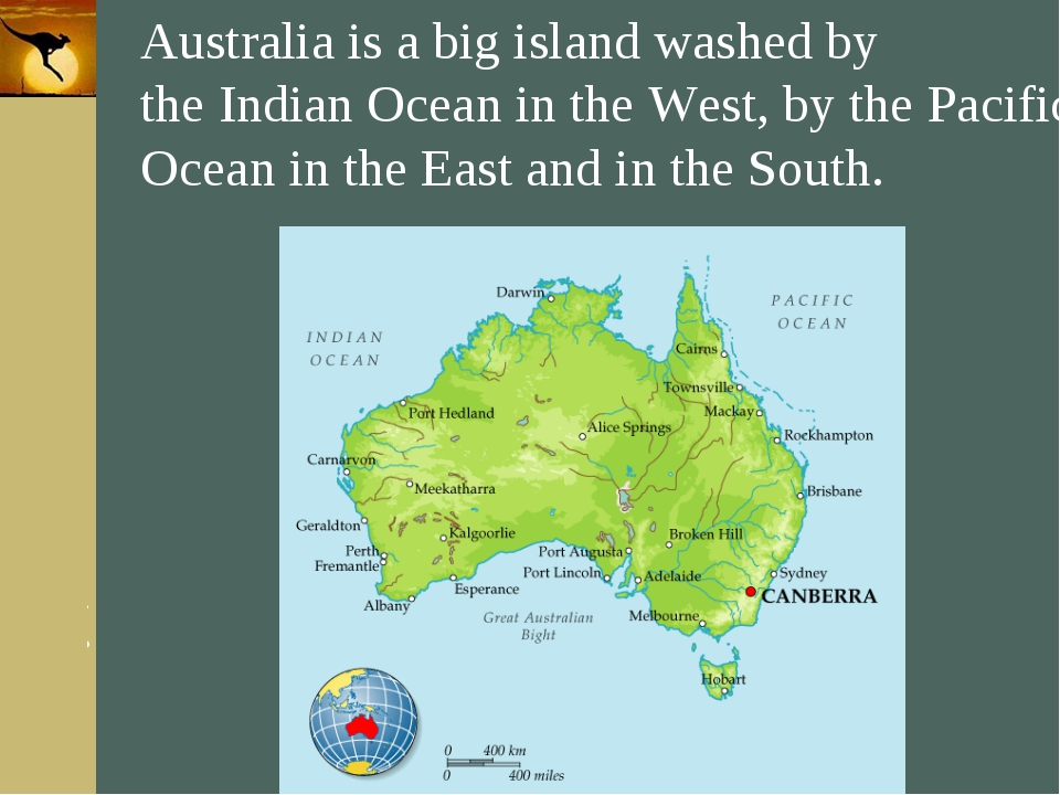 Company Logo Australia is a big island washed by the Indian Ocean in the West...