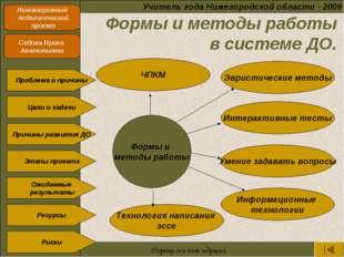Учитель года Нижегородской области - 2009 Инновационный педагогический проек