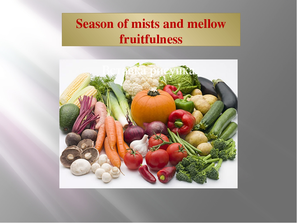 Season of mists and mellow fruitfulness