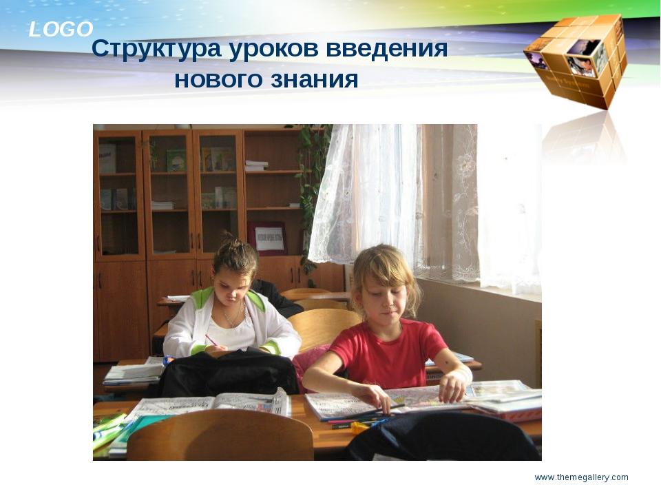www.themegallery.com Структура уроков введения нового знания  www.themegalle...