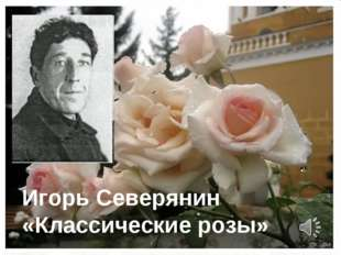 Игорь Северянин «Классические розы»