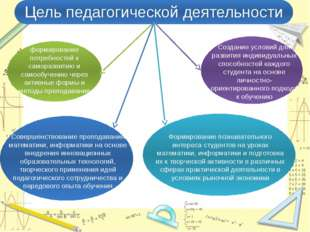 Совершенствование преподавания математики, информатики на основе внедрения и