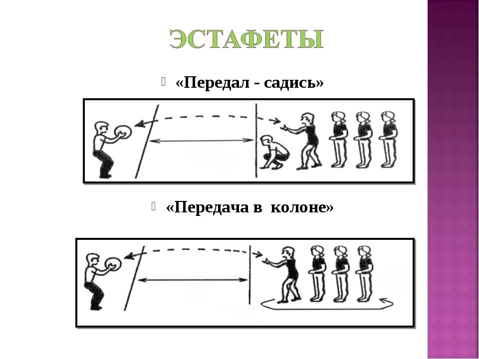 «Передал - садись» «Передача в колоне»