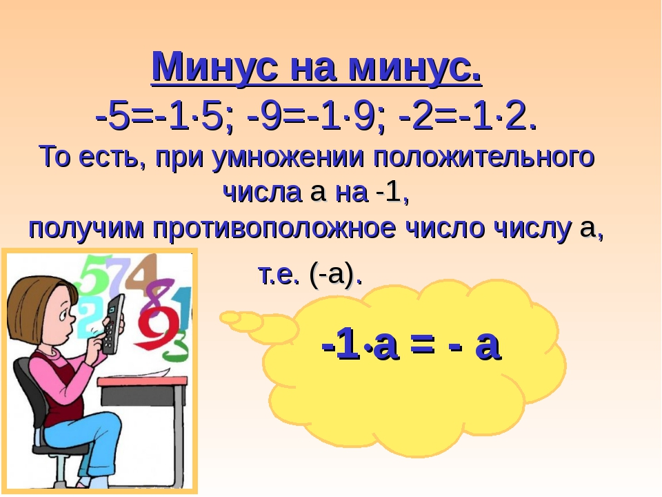 Минус на минус. -5=-1·5; -9=-1·9; -2=-1·2. То есть, при умножении положительн...