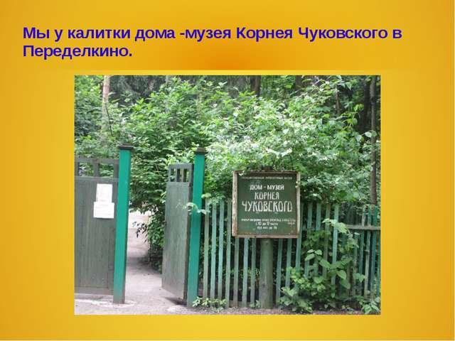 Мы у калитки дома -музея Корнея Чуковского в Переделкино.