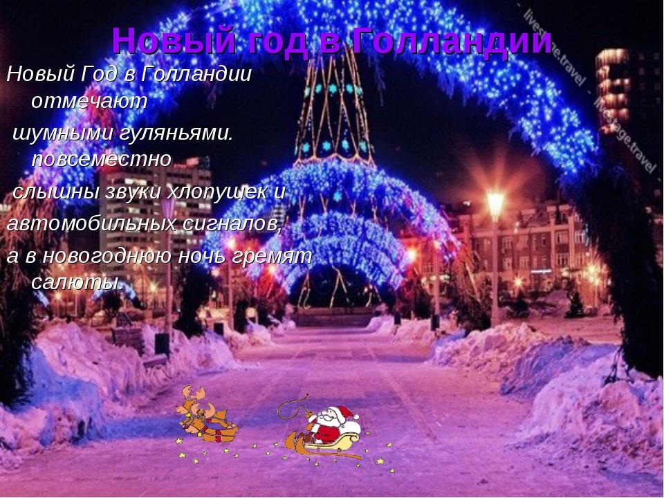 Новый год в Голландии Новый Год в Голландии отмечают шумными гуляньями. повсе...