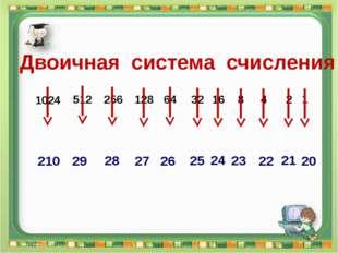 Двоичная система счисления Сергеенкова И.М. - ГБОУ Школа № 1191 г. Москва 102