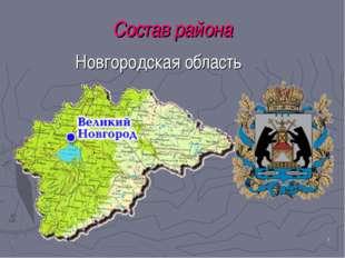 * Состав района Новгородская область