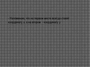 - А на координатной плоскости числа располагаются так, как показано на рисунке