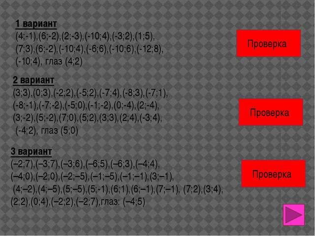 У Х 0 1 2 3 4 8 7 6 5 1 -12 -13 7 6 5 4 3 2 8 -6 -5 -4 -3 -2 -1 -1 -11 -10 -9...