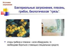 """Бактериальные загрязнения, плесень, грибок, биологическая """"грязь"""". споры гриб"""
