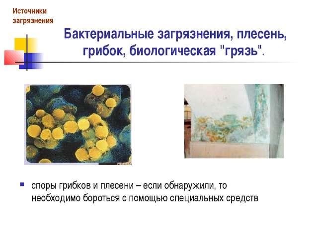 """Бактериальные загрязнения, плесень, грибок, биологическая """"грязь"""". споры гриб..."""