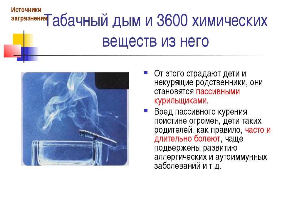 Табачный дым и 3600 химических веществ из него От этого страдают дети и некур...