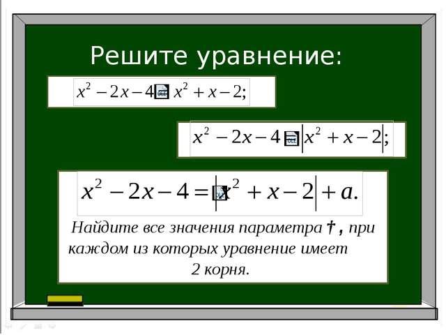 Решите уравнение: Найдите все значения параметра ɑ, при каждом из которых ура...
