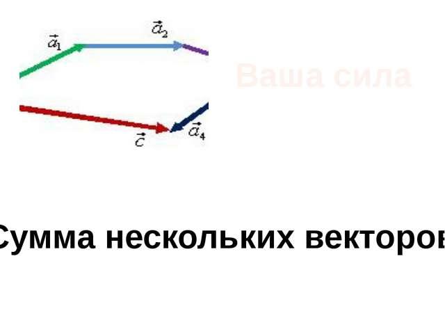 Ваша сила Сумма нескольких векторов