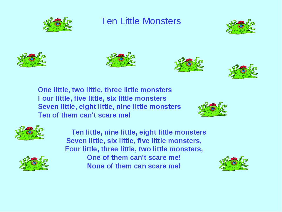 Ten Little Monsters ...