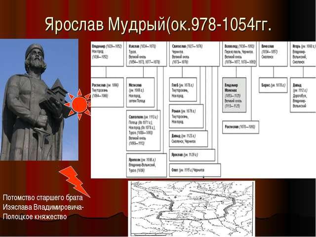 Ярослав Мудрый(ок.978-1054гг. Потомство старшего брата Изяслава Владимировича...