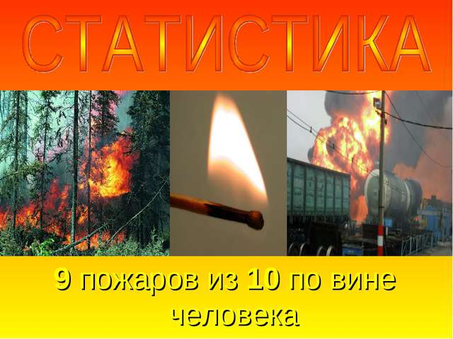 9 пожаров из 10 по вине человека