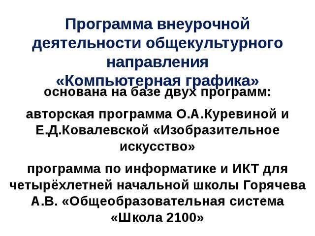 Программа внеурочной деятельности общекультурного направления «Компьютерная г...