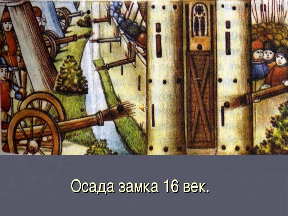 Осада замка 16 век.
