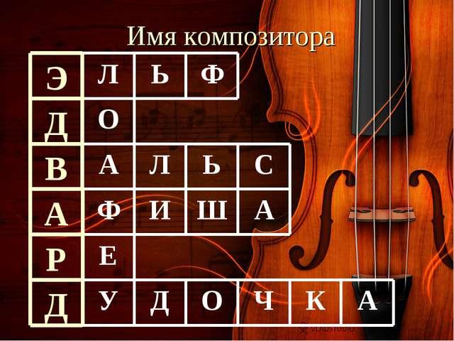 Имя композитора