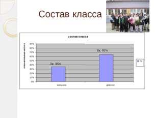 Состав класса состав класса 7а; 35% 7а; 65% 0% 10% 20% 30% 40% 50% 60% 70% 80